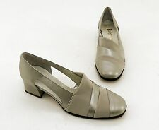 Pumps Fareen Blockabsatz Echtleder bronze beige Gr. 4 = 37
