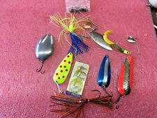 F3 Lot of misc spoons spinner baits blue fox rooster tail