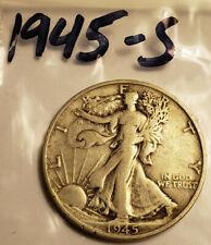 1945-S Walking Liberty Half Dollar / 90% Silver / Minted in San Francisco