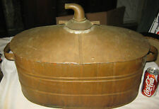 ANTIQUE PRIMITIVE COUNTRY COPPER BRASS WHISKY STILL PROHIBITION BOILER POT USA