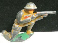 Vintage Manoil Lead Toy Soldier Sniper Kneeling Longer Thicker Rifle M-046
