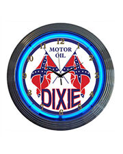 Neonetics Cars and Motorcycles Dixie Motor Oil Neon Wall Clock, 15-Inch