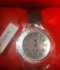 NEW Swiss Legend Women's 20032D-02 Stainless Steel, Black Rubber, Diamond Watch
