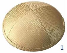 Menorah Jewish Cap Kippah Yarmulke Linen/Silk Yamaka Zionist Kipot Kipa Gold