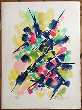 Manessier Alfred Lithographie signée sur velin art abstrait 1978 abstraction
