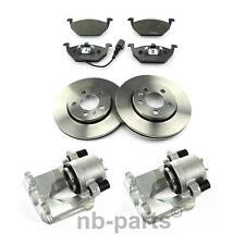 2x Brake Caliper + Brake Discs 256mm+ Brake Pads with WK Front Audi Skoda VW
