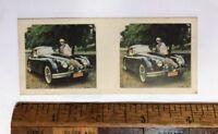 VINTAGE 1960s 3D PHOTO CARD CEREAL TAA JAGUAR XK 150S BRITISH SPORTS CAR VGC!