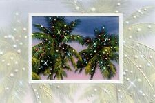 16 Embossed Boxed Christmas Cards Palm Party