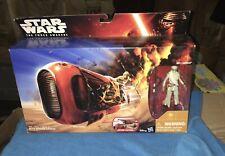 "Star Wars The Force Awakens Rey's Speeder(JAKKU) 3.75"" Figure & Vehicle Set NEW"