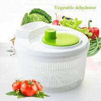Large Plastic Salad Spinner Leaf Dryer Lettuce Veg Drainer Dressing Herb WaterTP