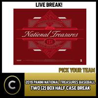 2019 PANINI NATIONAL TREASURES 2 BOX (HALF CASE) BREAK #A612 - PICK YOUR TEAM
