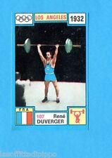 OLYMPIA 1896-1972-PANINI-Figurina ADESIVA !! n.107- DUVERGER - FRANCIA -Rec