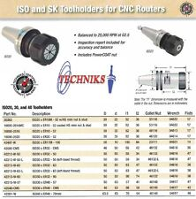 Techniks ISO30 Collet Chuck  ER32 50MM Length CNC Router 25,000 RPM