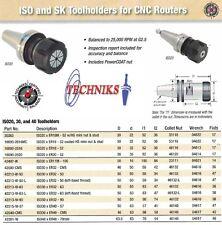 Techniks ISO30 Collet Chuck  ER40 57MM Length CNC Router 25,000 RPM