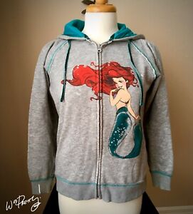 2013 D23 Disney Designer ART OF ARIEL Mermaid Fashion Zip Jacket Hoodie - Rare