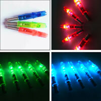 12x LED Lighted Arrow Nocks for Outdoor Hunting Compound Recurve Bow Archery asf