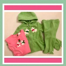 NWT 6-12 Gymboree CHEERY ALL THE WAY 3pc Outfit FLEECE HOODIE PANTS TOP SET grn