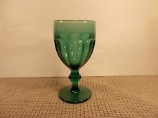"""Libbey Crystal Gibraltar Juniper Green Water Goblet 6 3/4"""""""