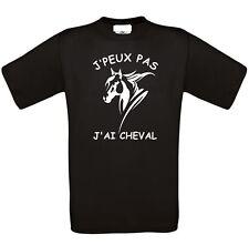 """TEE SHIRT HUMOUR """" J'PEUX PAS J'AI CHEVAL"""" 2"""