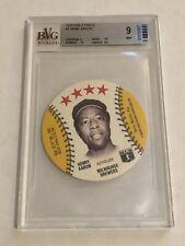 1976 Isaly's Disc BVG 9 Mint - Hank Aaron - Atlanta Braves