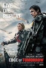 Edge Of Tomorrow DOUBLE SIDED ORIGINAL MOVIE Film POSTER Tom Cruise Emily Blunt