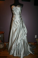 Silver wedding dress slimming plus custom sizeand color