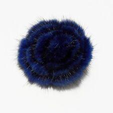 brooch pin for coat scarf shawl kilt hat Classy Big Blue Real Mink fur claw &