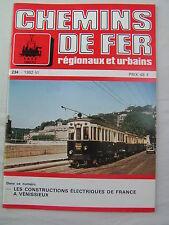 Chemins de fer régionaux et urbains 234 1992 construction électrique Vénissieux