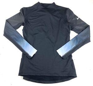 Nike Pro Hyperwarm Womens Black Long Sleeve Turtleneck Top Shirt XL Compression