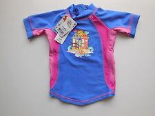 NEW Bright Bots baby girl rash top bathers UPF 50+ size 0 Fits 6-12 mths