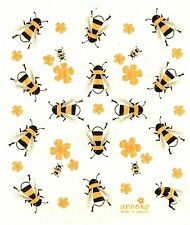 "Swedish Dish Cloth ""Bees!""  New, Made in Sweden, Greatest. Dishcloth. Ever."