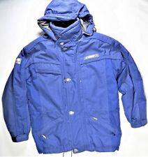 Descente Mens Jacket M Blue Dermizax Ski Snowboarding Winter Cold Hood Snow EUC