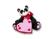 Beary Special Panda Bear Figurine for Valentine's Day ~ Great Gift Idea!