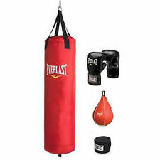 Everlast Heavy Boxing Punching Bag 70 Lb Training Gloves Speed Set MMA
