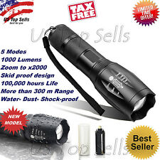 Tactical LED Flashlight G700 X800 ShadowHawk Bright Zoom Military Grade Torch