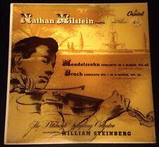 Nathan Milstein (Mendelssohn OP-64, Bruch No. 1 OP-26 William Steinberg)
