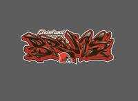 Cleveland Browns Graffiti Vinyl Decal 8x3