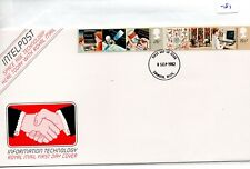 GB - FDC - TOWN CANCEL -081- UNADDRESSED -1982- Info Technology - Pmk Swindon
