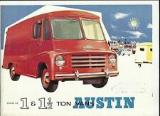 AUSTIN 1 AND 1 1/2 TON SERIES LD VANS SALES BROCHURE LATE 50's
