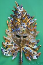 Venitian Mask Maurizio Monti Paper Mache Gold Leaf Murrine Murano Glass
