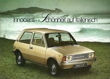 Depliant Brochure Innocenti 90 L - 120 L 1978 / 1979 Germania ORIGINALE