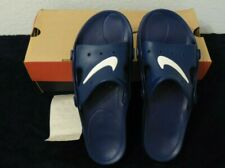 VINTAGE 1998 NEW OLD STOCK Nike Mens Soccer Sandal 2 Mid Navy White Flip Flop