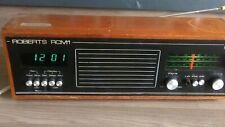 Vintage retro  roberts radio alarm RCM1