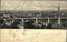 BERN 1904 AK Brücke Fluss Schweiz mit Frankatur Helvetia alte Postkarte Suisse