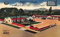 Linen Postcard Rancho Grande Motor Hotel in Wickenburg, Arizona~113117