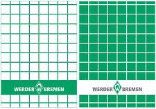 Werder Bremen Geschirrhandtuch 2- er Set grün / weiss 100 % Baumwolle