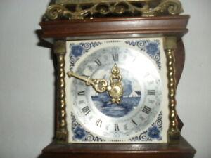 Vintage Zaandaam Zanse Dutch Pendulum Wall Clock with windmill dial