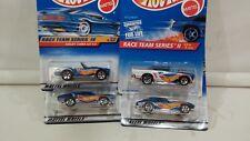 lot 4 Hot Wheels Racing '57 chevy, corvette, olds & cobra B165