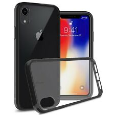 Clear w/ Black Rim Slim Fit TPU Bumpers Cover Phone Case for Apple iPhone XR