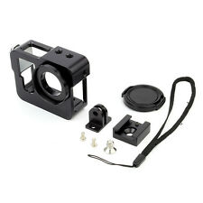 Noir aluminium-schutzhülle-feld-gehäuse SHELL Support pour Gopro Hero4 3+